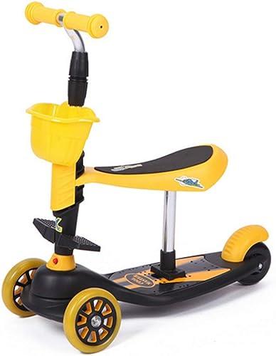 Obtén lo ultimo WQING 3-en-1 3-en-1 3-en-1 3 Ruedas Kick Scooter con Asiento removible para Niños Kids Scooter con Ruedas Extra Anchas de PU  tienda de descuento