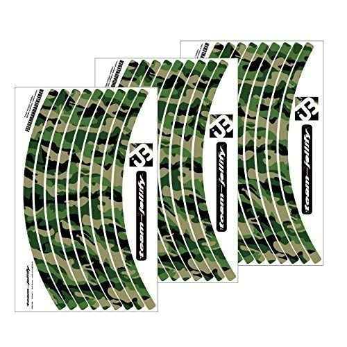 "JOllify Felgenrandaufkleber Laufrad LRS Satz Camouflage ""The Invisible Man"" für Dein Fahrrad, MTB Sticker.- Classic"