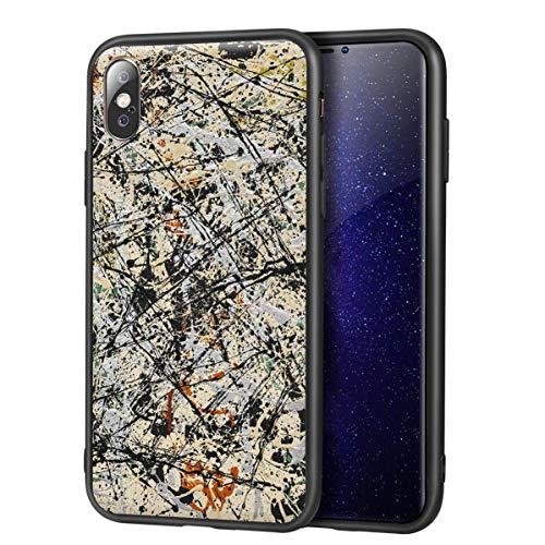 Jackson Pollock para iPhone X/iPhone XS Fine Art Estuche para teléfono móvil/Estuche para teléfono móvil Art/Impresión de reproducción Giclee UV en la Cubierta del teléfono móvil (Número 5)