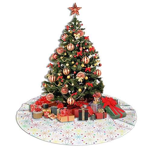 ASDJLK Christmas Tree Skirt, 48' Christmas Star Salute Xmas Tree Decorations for Holiday Party