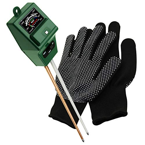 Gain Express Soil pH Tester, Moisture & Light Meter 3 Way Tester Kit (Free Gloves) (Soil pH Meter)
