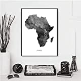 Afrique Carte Affiches et...