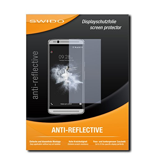 SWIDO Bildschirmschutz für ZTE Axon 7 Mini [4 Stück] Anti-Reflex MATT Entspiegelnd, Hoher Festigkeitgrad, Schutz vor Kratzer/Glasfolie, Schutzfolie, Bildschirmschutzfolie, Panzerglas Folie
