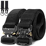 Fairwin táctico cinturón, cincha para riggers estilo militar web cinturón con hebilla metal de liberación rápida