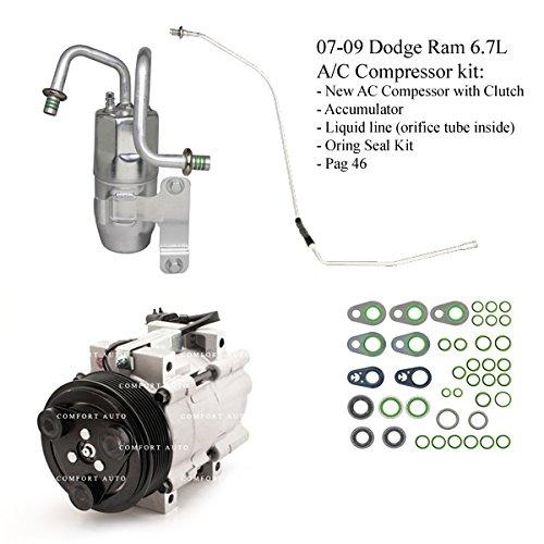 2007 2008 2009 Dodge Ram 2500 3500 6.7L Diesel New A/C AC Compressor kit 1 Year Warranty