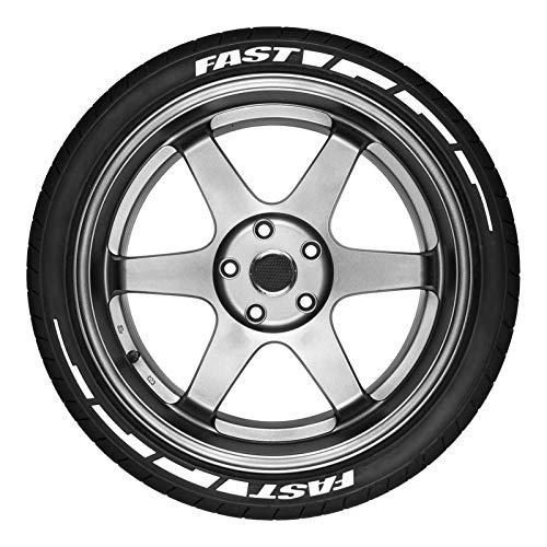 K-Park Pegatinas de neumáticos universales - Kit de Letras de neumáticos de neumáticos de Hoja Rota rápida, Accesorio de Rueda de automóvil, Letras de Bricolaje para decoración de automóviles admired