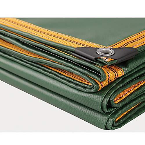 HHM Canvas Plane, langlebig, reißfest, kalt, Anti-Sun, Anti-Oxidation, grüne Tarps wasserdicht mit Ösen (Farbe : Grün, größe : 5m×7m)