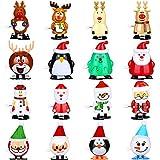 16 Pièces Jouets de Noël à Remonter Jouets Mécaniques Assortis Mini Jouets à Remonter en Plastique
