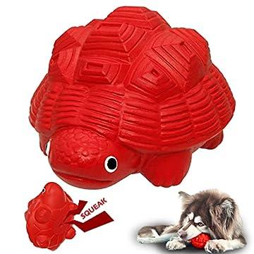 【Sicher】 Der Quietsch-Hundespielzeug aus ungiftigem, BPA-freiem, latexfreiem und FDA-konformem Naturkautschuk. Es ist sicher für Ihren Hund, weich, zäh und langlebig, um die Zähne vor Schäden und Zahnfleischmassage zu schützen. 【Einzigartiges Konstru...