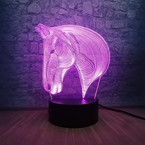 Tisch/Schreibtisch Nachtbeleuchtung Ool Tier Pferd 3D Lampe Nachtlicht Beleuchtung Weihnachten Dekorativ Bunt Kindertisch Schreibtisch KINDER SPIELZEUG Party 3D Kinderzimmer Dekoration Licht Shop