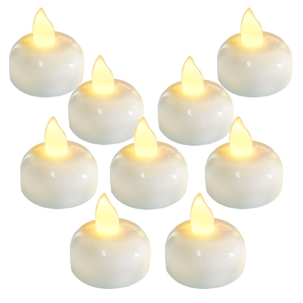 Homemory Waterproof Flameless Tealights Flickering