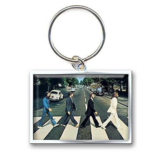 Beatles - Keyring Abbey Road Crossing Photo Print (in 3 cm x 3,7 cm)