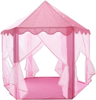 Children's Play Tent Princess Tent Girls Large Playhouse Kids Castle Play Tent for Girls Imaginative Camping Playground Ga...