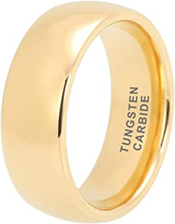 2mm 4mm 6mm 8mm Silver/Black/Yellow Gold/Rose Gold/White Tungsten Rings for Men Women Wedding Bands Classic Domed Polished Shiny Comfort Fit