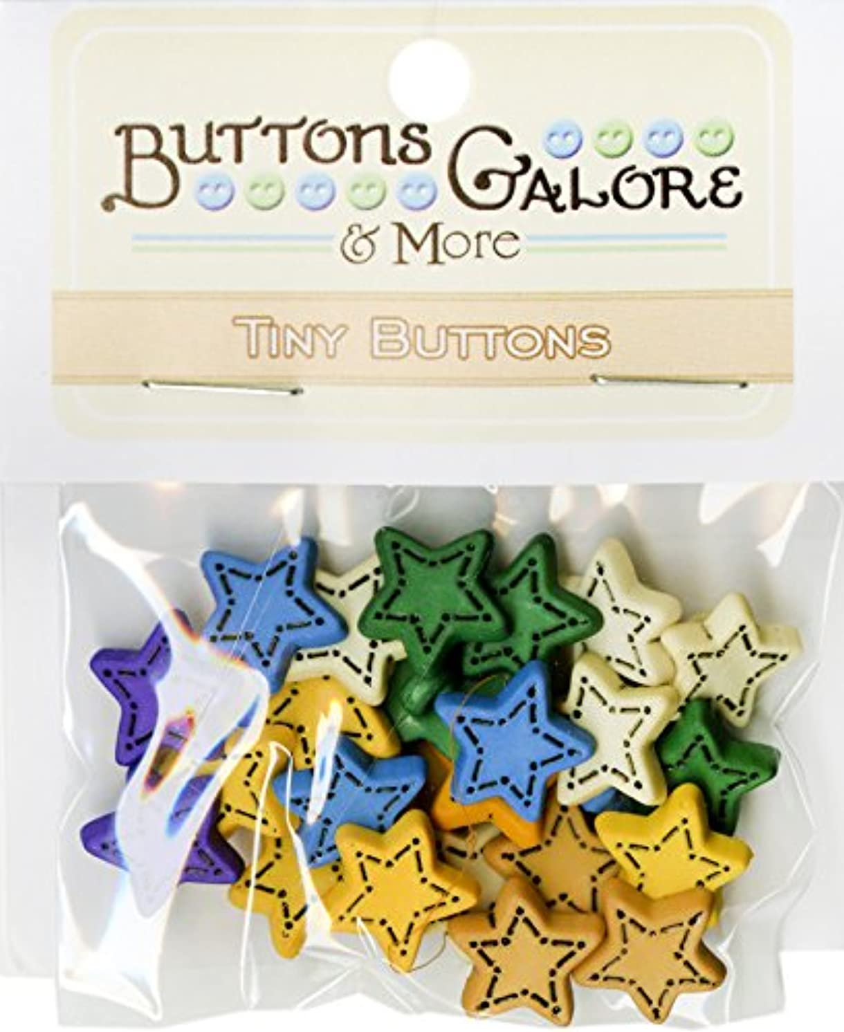 Buttons Galore Tiny Folk Stars Button Bag Buttons