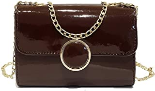 VogueZone009 Women's Pu Chains Casual Dacron Crossbody Bags,CCABO207546