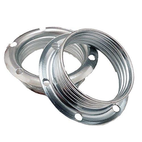 Schraubring E14 Metall chromfarben 2 Stück für Lampen-Fassung