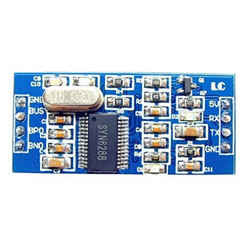 KEKEYANG Texto SYN6288 módulo de síntesis de Voz TTS módulo a módulo de Sonido, con la función del sueño Placa controladora