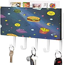 Clé murale - Crochet de clé mural, porte-clé de courrier, organisateur de clé de courrier, hamburger de l'espace de dessin...