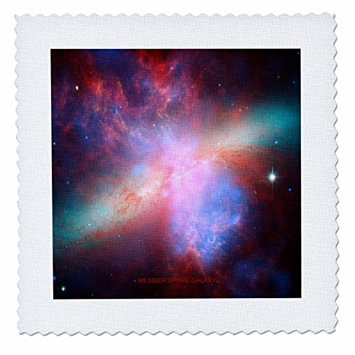 3dRose QS_76826_3 Galaxy and Nebula-Messier Spiral Galaxy-Quilt Square, 8 by 8-Inch