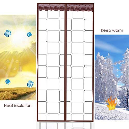 VKFX Magnet Fliegengitter Tür Insektenschutz Isolierung Thermovorhang, Wärmeschutzvorhang Türvorhang Wasserdicht Winddicht Klimaanlage Fliegenvorhang für Balkontür Wohnzimmer a/Br