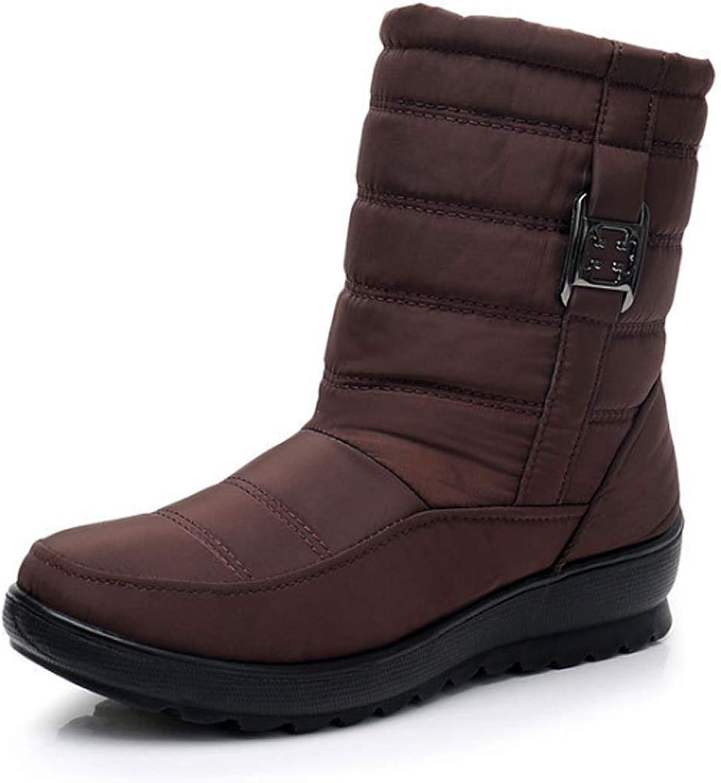 Aiweijia women's snow boots winter waterproof warm ladies shorts booties