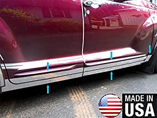 MAXMATE Made in USA! Works with 2000-2009 Chrysler PT Cruiser Lower Rocker Panel Chrome Stainless Steel Body Side Moulding Molding Trim Cover 5