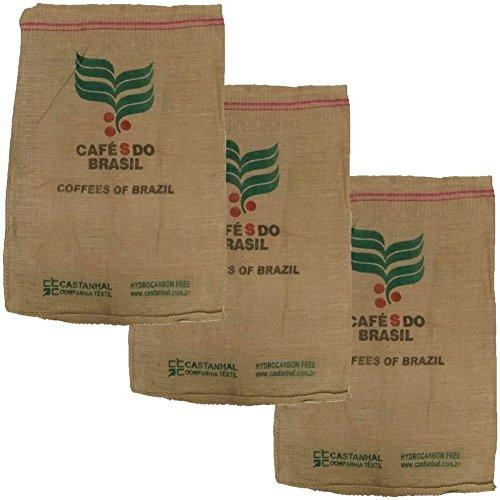 Kaffeesack Jutesack Original mit Druck BRASIL Deko Basteln Garten 3 Stück