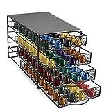 INDIAN DECOR. 28438 Coffee Pods Holder for Nespresso OriginalLine 4-Tier Storage Drawer Organizer Holds 144 Capsules -Premium/Spice Racks Bathroom Shelf