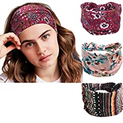 Material:Polyester fiber. PERFECTLY USE - These head bands are really soft and stretchy, hairbands are perfect for Sports(yoga/running/hiking/etc), Party, Dancer, Prom or just Daily Life; the headbands not only keep you a wonderful looking but also k...