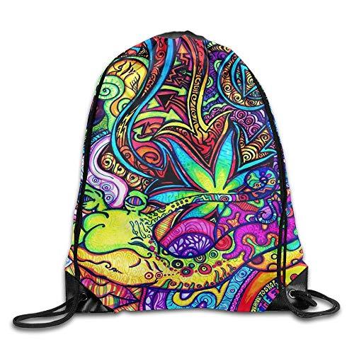 Etryrt Prämie Turnbeutel/Sportbeutel, Mind Easer Psychedelic Pattern DDD Unisex Outdoor Rucksack Shoulder Bag Travel Drawstring Backpack Bag