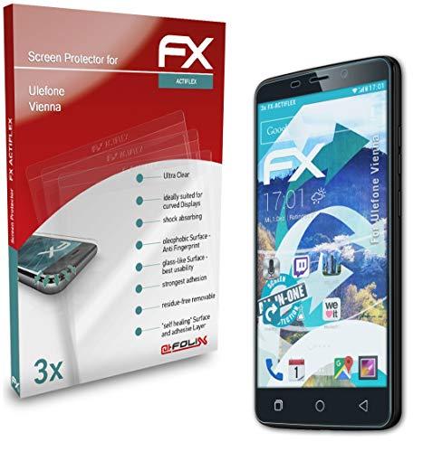 atFolix Schutzfolie kompatibel mit Ulefone Vienna Folie, ultraklare & Flexible FX Bildschirmschutzfolie (3X)