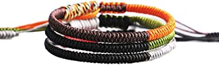 Handmade Rope Tibetan Lucky Friendship Bracelets Protection Charm for Men Women Couple Adjustable Hand-Knitted Woven Braided Rope Bracelets Gifts&Boys