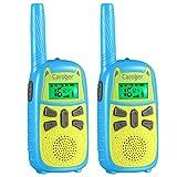Walkie Talkie Niños, Batería Super Save, 7 Colores de Pantalla, 16 Canales 2PCS 2 Millas Radio Largo Alcance, Juguete con Linterna y VOX, Potencia Trabajo Dual de 0.1W y 0.5W (Azul)