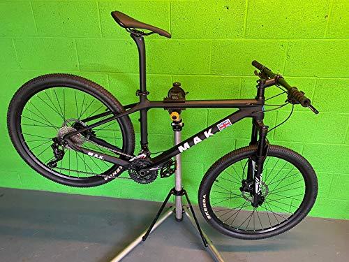 CARBON FIBRE MOUNTAIN BIKE BICYCLE HARDTAIL MTB ZOOM BY MAK CYCLES ADULTS CYCLE PUSH BIKE SHIMANO GROUP AND BRAKE SET - BLACK