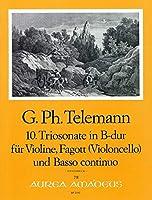TELEMANN - Trio Sonata en Si Mayor (TWV:42/b 5) para Violin. Violoncello (Fagot) y BC (P/PT)
