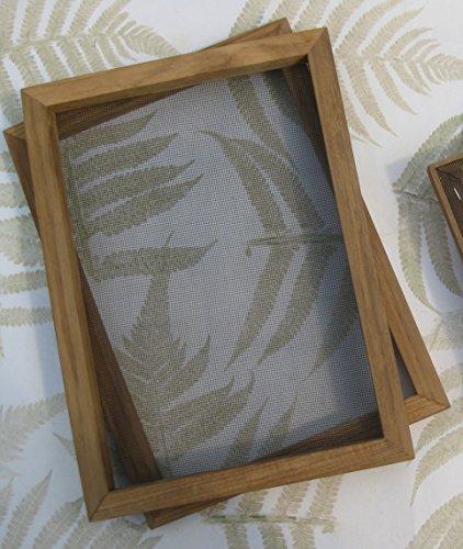 tribal paper bhutanpaperarts A4 Papiere selbst schöpfen - PAPIERSCHÖPFRAHMEN 25x34cm A4+ Size/Traditionswerkzeug in professioneller Qualität/incl. Anleitung