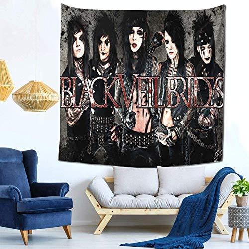 Manta decorativa de la pared de los tapices para el tapiz de la sala de estar y del dormitorio 59 * 59 pulgadas Black Veil Brides