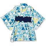 [ディズニー] アナと雪の女王2 総柄 かんたん 浴衣 帯付き 女の子 ディズニー 甚平・浴衣 サックス 日本 120 (日本サイズ120 相当)