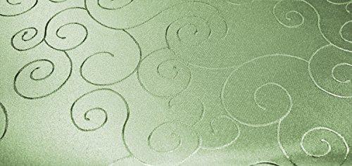 Unbekannt Tovaglia rettangolare 160 x 260 cm struttura damascata tovaglia Circle non necessita di stiratura #1286 (verde verde chiaro antico)