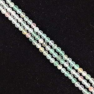 Precio de fábrica Gema natural Cuentas facetadas 2/3/4 mm Piedra rosa Cristal Cuentas Material de selección al por mayor para la fabricación de joyas, fluorita, 3 mm Aproximadamente 120 cuentas