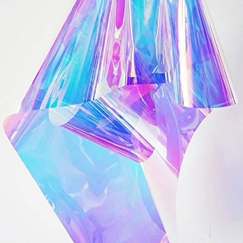 HOHOFILM Fensterfolie, 152,4 x 50,8 cm, Chamelon, Regenbogen-Effekt, schillernd, dekorativer Glas-Aufkleber, selbstklebend, Heimdekoration