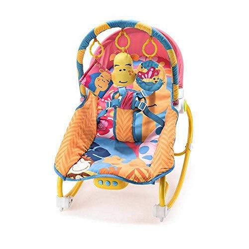 Cadeira de Balanço para Bebês 0-20 kg Girafa, Multikids Baby, Laranja