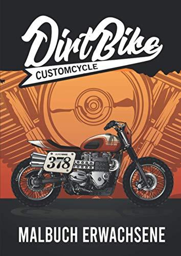 Dirtbike - Malbuch Erwachsene: Motorrad Malvorlagen - Malbuch