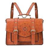 ECOSUSI Backpack for Women Briefcase Messenger Laptop Bag Vegan Leather Satchel Work Bags Fits...