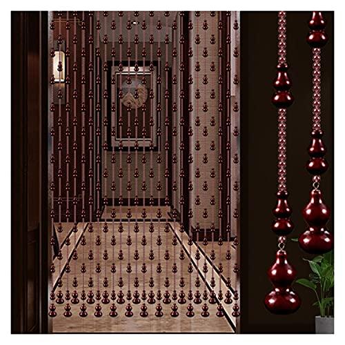 GuoWei - Cortina con cuentas de madera, panel de decoración para puerta de salón, divisor de paso, decoración para puerta para armario, dormitorio, restaurante, personalizable