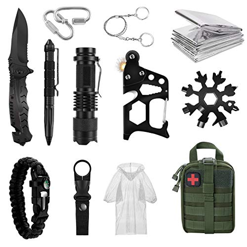 Emergency Kit Survival Gear and Equipment, 85 in 1 Outdoor Gear, Emergency Camping Hiking Hunting Fishing Adventures for Men dad Husband Father boy Friend