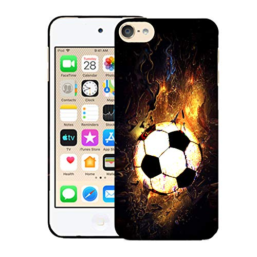 Glisten iPod Touch 7th / 6th / 5th Generation Case - Soccer On Fire Design Printed Cute Slim Fit Hard Plastic Designer Back Case for iPod Touch 7th, iPod Touch 6th & iPod 5th Generation