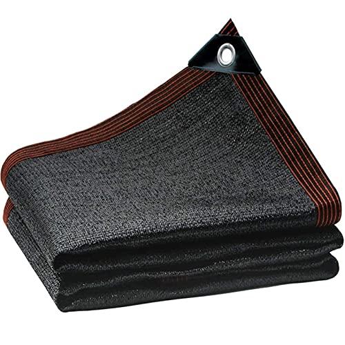 DKLE 4x8m Negro Bloqueador Solar de Malla Resistente a los Rayos UV, para Estanque, Red para jardín o Planta,Tasa de sombreado 85%, para Patio Balcón Techo Cochera Almacén Piscina