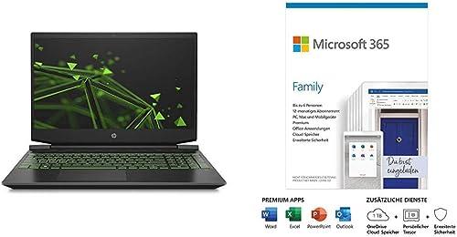 HP Pavilion Gaming 15 ec1206ng 15 6 Zoll FHD IPS Gaming Laptop AMD Ryzen 5 4600H 8GB DDR4 RAM 512GB SSD Microsoft 365 Family Box
